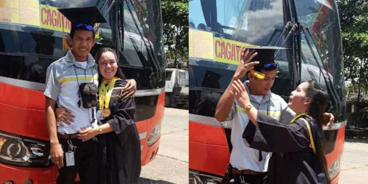 Bus Conductor, Happy With His Partner Graduating from College
